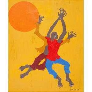 CLÓVIS GRACIANO, Figuras - Óleo sobre tela - 46x3 cm - ACIDe VERSO 1978 (Catalogação de numero 0381/0813)