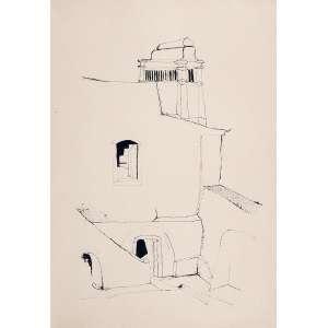 UBIRAJARA RIBEIRO, Composição - Desenho a nanquim - 54x38 cm- ACID 1963 (Comrecibo de compra da GALERIA SETA)