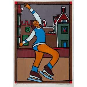 FRANCISCO BRENNAND, Moça de patins - Serigrafia 69/100 - 65X46 cm - ACID 1973