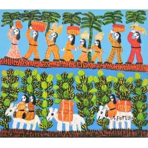 ANTONIO POTEIRO, Colheita - Óleo sobre tela - 60x70 cm - ACID (Com certificado de autenticidade)