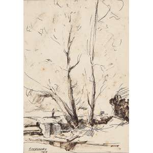 Edgar Oehlmeyer - Desenho - 21x15cm - 1963 - Ass: C.I.E