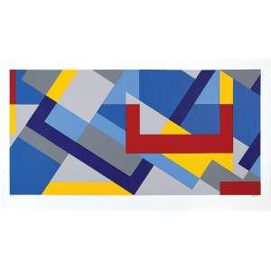CLAUDIO TOZZI - GEOMÉTRICO – SERIGRAFIA -40 x70 – ASS.c.i.d – 25/60