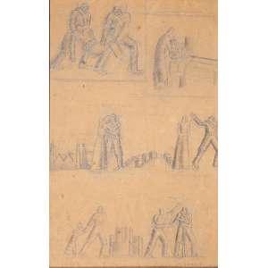 FULVIO PENNACCHI - DESENHO A LÁPIS – 21 X 14 CM – ASS. C.I.D. - ANO 1935
