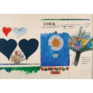 ALDEMIR MARTINS - Técnica mista, PINTURA E COLAGENS -OBRA MUITO INTERESSANTE DO ARTISTA - 50x72 cm - Ass: C.I.D - 1986<br />