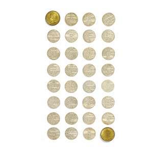 FAUGINET, Jacques-Auguste (1809 – 1847) - Constituição do Brasil<br>medalha-caixa em bronze dourado, gravada por Jacques-Auguste Fauginet e impressa em Paris por Alphonse Pelicier; contém o texto da Constituição impresso em 30 folhas redondas (60 páginas)<br>1,5 x ø6 cm