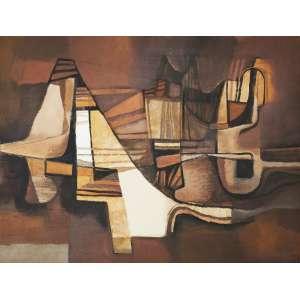 BURLE MARX, Roberto (1909 – 1994) - Sem Título<br>acrílica s/ tela, ass. e dat. 1982 inf. dir. <br>Reproduzido na capa do catálogo da exposição Roberto Burle Marx, realizada na Studio A Galeria de Arte, Recife, 1988<br>112 x 148 cm