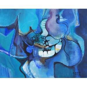 BURLE MARX, Roberto (1909 – 1994) - Sem Título<br>acrílica s/ tela, ass. e dat. 1981 inf. dir.<br>80 x 100 cm