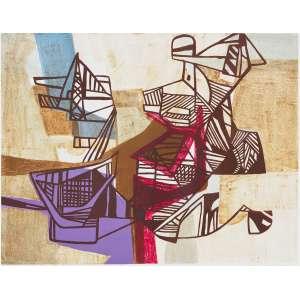 BURLE MARX, Roberto (1909 – 1994) - Campo Formoso<br>litografia em cores impressa s/ papel, ass., dat. 1991 inf. dir., tit. no centro inf. e n. 26/30 II inf. esq.<br>MI 50 x 64 cm / ME 60 x 80 cm