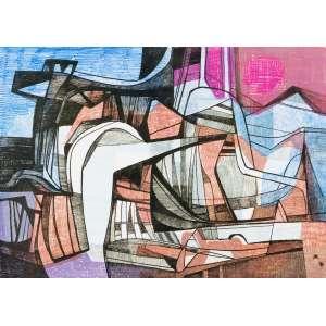 BURLE MARX, Roberto (1909 – 1994) - Itapecerica<br>litografia em cores impressa s/ papel, ass., dat. 1998 inf. dir., tit. no centro inf. e n. 23/40 inf. esq.<br>MI 38,5 x 54,5 cm / ME 56,5 x 75,5 cm