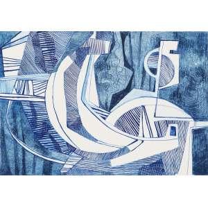BURLE MARX, Roberto (1909 – 1994) - Jurema<br>litografia em cores impressa s/ papel, ass., dat. 1987 inf. dir., tit. no centro inf. e n. 36/60 inf. esq.<br>MI 44 x 63,5 cm / ME 59,5 x 79,5 cm