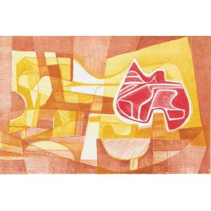 BURLE MARX, Roberto (1909 – 1994) - Mazomba<br>litografia em cores impressa s/ papel, ass., dat. 1985 inf. dir., tit. no centro inf. e n. 31/70 inf. esq.<br>MI 41,5 x 63 cm / ME 56 x 75,5 cm
