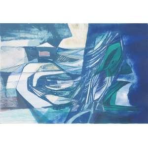 BURLE MARX, Roberto (1909 – 1994) - Ode Marítima<br>litografia em cores impressa s/ papel, ass., dat. 1984 e com indicação PA XXXIII/82 inf. esq.<br>MI 43 x 63,5 cm / ME 46,5 x 67 cm