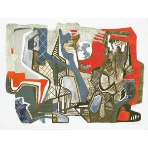 BURLE MARX, Roberto (1909 – 1994) - Tranças dos Olhos<br>litografia em cores impressa s/ papel, ass., dat. 1993 inf. dir., tit. no centro inf. e n. 42/50 I inf. esq.<br>MI 53 x 72 cm / ME 59,5 x 78,5 cm