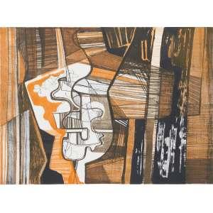 BURLE MARX, Roberto (1909 – 1994) - Sem Título<br>litografia em cores impressa s/ papel, ass., dat. 1984 inf. dir. e n. 32/50 inf. esq.<br>MI 46 x 62,5 cm / ME 56,5 x 75,5 cm