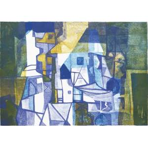BURLE MARX, Roberto (1909 – 1994) - Pendurassaia<br>litografia em cores impressa s/ papel, ass., dat. 1986 inf. dir., tit. no centro inf. e n. 44/50 inf. esq.<br>MI 44,5 x 63 cm / ME 56 x 75,5 cm