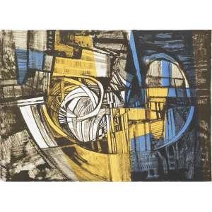 BURLE MARX, Roberto (1909 – 1994) - Canângula<br>litografia em cores impressa s/ papel, ass., dat. 1983 inf. dir., tit. no centro inf. e com indicação PA inf. esq.<br>MI 46 x 64,5 cm / ME 59,5 cm x 79,5 cm