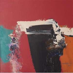 MABE, Manabu (1924 – 1997) - Sem Título<br>óleo s/ tela, ass., dat. 1984 inf. dir., ass. e dat. 16 de março de 1984 no verso<br>51 x 51 cm