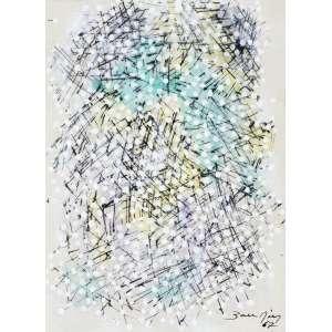 BANDEIRA, Antônio (1922 – 1967) - Sem Título<br>guache e nanquim s/ papel, ass. e dat. 1967 inf. dir.<br>19 x 14 cm
