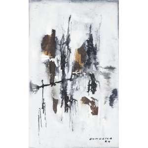 BANDEIRA, Antônio (1922 – 1967) - Sem Título<br>aquarela e nanquim s/ papel, ass. e dat. 1960 inf. dir.<br>18 x 11,5 cm
