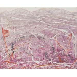 FUKUSHIMA, Tikashi (1920 – 2001) - Terra e Vida<br>óleo s/ tela, ass. inf. dir., tit. inf. esq. e com resquícios de ass., dat. 1983 e tit. no verso<br>Procedência: Galeria Realidade<br>45,5 x 50,5 cm