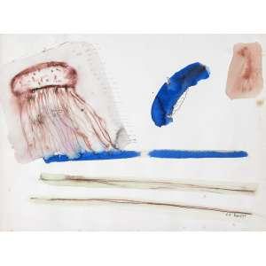 BÁRRIO (1945) - Sem Título<br>aquarela e grafite s/ papel, ass., dat. 1989 e n. 19042 em etiqueta da Galeria Nara Roesler no verso<br>30 x 40 cm