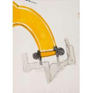 BÁRRIO (1945) - Sem Título<br>aquarela e grafite s/ papel, ass. e dat. 1988 no verso<br>35 x 25 cm
