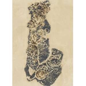 KRAJCBERG, Frans (1921 – 2017) - Sem Título<br>papel moldado em pedra, madeira gessada e tingida com pigmentos naturais, ass. inf. dir. e com atestado do artista situando a obra à época de Cata Branca (Itabirito – Minas Gerais) e datando a obra de 1960<br>70 x 50 cm