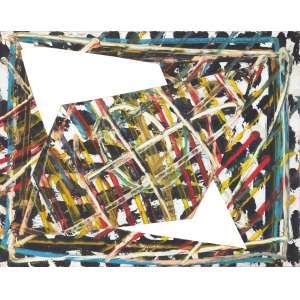 BÁRRIO (1945) - Sem Título (Da série Africana)<br>acrílica s/ papel recortado, ass. e dat. 1983 no verso<br>30,5 x 38 cm