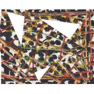 BÁRRIO (1945) - Sem Título (Da série Africana)<br>acrílica s/ papel recortado, ass. e dat. 1983 no verso<br>29,5 x 37,5 cm