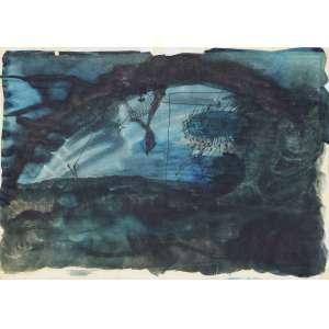 BÁRRIO (1945) - Sem Título<br>guache e nanquim s/ papel, ass. e dat. 1973 inf. esq.<br>30 x 42 cm