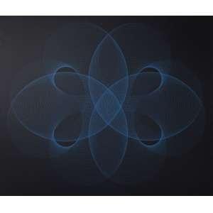 MAC ENTYRE, Eduardo (1929 – 2014) - Azul s/ Negro<br>acrílica s/ tela, ass., dat. 1973, tit. no verso e com etiqueta n. 4373 da Galeria de Arte Ipanema no chassi<br>120 x 140 cm