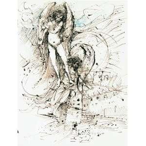 DAREL Valença Lins (1924 – 2017) - Sem Título<br>aquarela e nanquim s/ papel, ass., dat. 1963 inf. dir. e com desenho no verso<br>64 x 50 cm