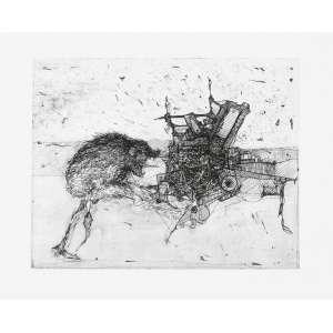 DAREL Valença Lins (1924 – 2017) - Sem Título<br>gravura em metal (água-forte e água-tinta) impressa s/ papel, ass., dat. 1973 inf. dir. e n. 7/15 inf. esq.<br>MI 39 x 49 cm / ME 53 x 70 cm