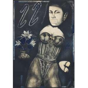 JOÃO CÂMARA Filho (1944) - Considerações Bíblicas<br>litografia em cores impressa s/ papel, ass. inf. dir., tit. centro inf. e n. 5/5 inf. esq.<br>MI 70 x 50 cm / ME 76,5 x 55,5 cm