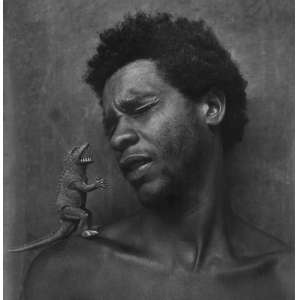 CRAVO NETO, Mario (1947 –2009) - Pedro Pituassú<br>fotografia impressa s/ papel, dat. 1983, tit. e com carimbo no verso<br>MI 17 x 16,5 cm / ME 24,5 x 17,5 cm