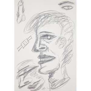 ARRUDA, Victor (1947) - Sem Título (Da série Desenhos Casuais)<br>grafite s/ papel, ass. inf. esq., ass. e dat. 1987 inf. dir.<br>31,3 x 21,4 cm