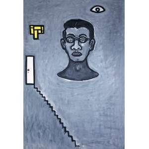 ARRUDA, Victor (1947) - Sem Título<br>acrílica s/ papel, ass. e dat. 1990 inf. esq.<br>95,5 x 65,4 cm