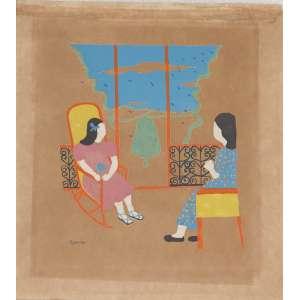 DJANIRA da Mota e Silva (1914 – 1979) - Sem Título<br>guache s/ papel, ass. inf. esq.<br>Procedência: Galeria Saramenha<br>29 x 26 cm