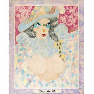 DARCÍLIO Lima (1944 – 1991) - Sem Título<br>pastel s/ papel, ass. e dat. 1985 na parte inf.<br>41 x 33,5 cm