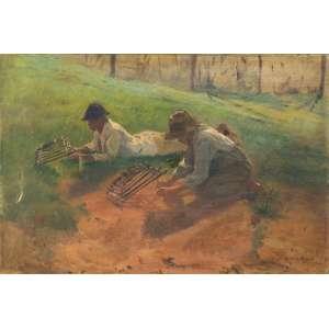 CHAMBELLAND, Carlos (1884 – 1950) - Arapuca<br>óleo s/ tela, ass. inf. dir.<br>28 x 42 cm
