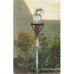 GARCIA BENTO, Antônio (1897 – 1929) - Fundo de Quintal<br>óleo s/ tela colada em cartão, ass., dat. 1924 inf. esq. e tit. no verso<br>21 x 13 cm