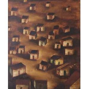 TERUZ, Orlando (1902 – 1984) - Favela<br>óleo s/ tela, ass. inf. dir., ass., dat. 1968, sit. Rio e com nº 024 de catalogação do Projeto Teruz no verso<br>61 x 50 cm