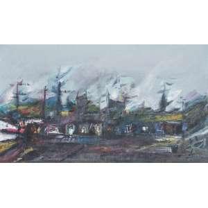 DAREL Valença Lins (1924 – 2017) - O Número 1 de uma Série<br>óleo s/ madeira, ass. inf. dir., ass., dat. 05/06/1997 e tit. no verso<br>39,5 x 70 cm