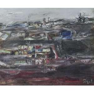 DAREL Valença Lins (1924 – 2017) - Da série Cidade<br>óleo s/ tela, ass. e dat. 1979 inf. dir.<br>81 x 100 cm