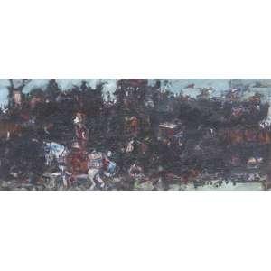 DAREL Valença Lins (1924 – 2017) - Sem Título<br>óleo s/ tela, ass. no verso<br>24 x 58,5 cm