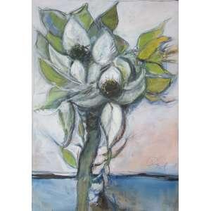 DAREL Valença Lins (1924 – 2017) - Sem Título (Flor 7)<br>óleo s/ tela, ass. e dat. 2005 inf. dir.<br>150 x 105 cm