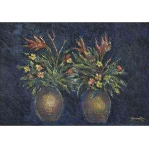KAZ, Paulina (1915 – 2001) - Vaso com Flores<br>óleo s/ tela, ass. inf. dir.<br>(década de 1980)<br>70 x 100 cm
