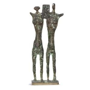 STOCKINGER, Francisco (1919 – 2009) - Guerreiros<br>escultura em bronze, ass. e n. 9/50 na base<br>33,5 x 14 x 5,5 cm