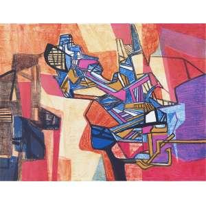 BURLE MARX, Roberto - Serra Dourada<br><br />litografia em cores impressa s/ papel, ass., dat. 1988 inf. dir., tit. no centro inf. e n. 26/30 inf. esq.<br><br />MI 38,5 x 54,5 cm | ME 56,5 x 76,5 cm<br /><br /><br />