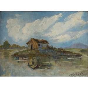 Anibal Mattos - Paisagem – 38 x 46 cm – OSM – Ass.CID e Dat.1940